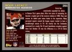 2001 Topps #264  Kevin Lockett  Back Thumbnail