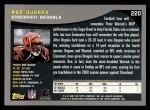 2001 Topps #220  Ron Dugans  Back Thumbnail
