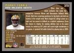 2001 Topps #372  Moran Norris  Back Thumbnail