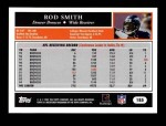 2005 Topps #185  Rod Smith  Back Thumbnail
