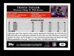 2005 Topps #44  Travis Taylor  Back Thumbnail