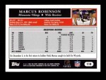 2005 Topps #118  Marcus Robinson  Back Thumbnail