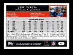 2005 Topps #43  Jeff Garcia  Back Thumbnail