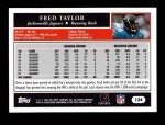 2005 Topps #124  Fred Taylor  Back Thumbnail