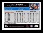 2005 Topps #198  Corey Dillon  Back Thumbnail