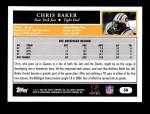 2005 Topps #50  Chris Baker  Back Thumbnail