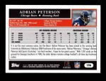 2005 Topps #196  Adrian Peterson  Back Thumbnail