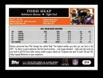 2005 Topps #219  Todd Heap  Back Thumbnail