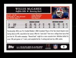 2005 Topps #8  Willis McGahee  Back Thumbnail