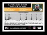 2005 Topps #215  Laveranues Coles  Back Thumbnail