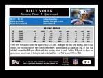 2005 Topps #214  Billy Volek  Back Thumbnail