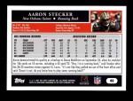 2005 Topps #40  Aaron Stecker  Back Thumbnail