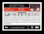 2005 Topps #159  DeAngelo Hall  Back Thumbnail
