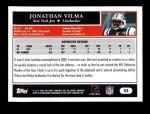 2005 Topps #53  Jonathan Vilma  Back Thumbnail