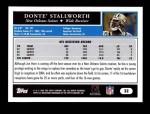 2005 Topps #32  Donte Stallworth  Back Thumbnail