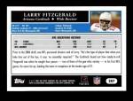 2005 Topps #207  Larry Fitzgerald  Back Thumbnail