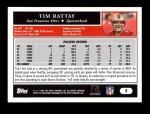 2005 Topps #2  Tim Rattay  Back Thumbnail