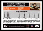 2005 Topps #427  Terrence Murphy  Back Thumbnail