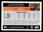 2005 Topps #430  Courtney Roby  Back Thumbnail