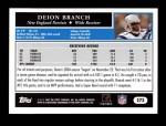 2005 Topps #273  Deion Branch  Back Thumbnail