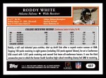 2005 Topps #437  Roddy White  Back Thumbnail