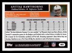 2005 Topps #402  Anttaj Hawthorne  Back Thumbnail