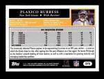 2005 Topps #272  Plaxico Burress  Back Thumbnail