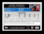 2005 Topps #276  Andre Johnson  Back Thumbnail