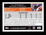 2005 Topps #247  T.J. Duckett  Back Thumbnail