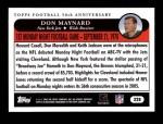 2005 Topps #328   -  Don Maynard Golden Moments Back Thumbnail
