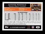 2005 Topps #280  Antoine Winfield  Back Thumbnail