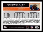 2005 Topps #426  Vernand Morency  Back Thumbnail
