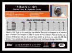 2005 Topps #373  Shaun Cody  Back Thumbnail