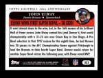 2005 Topps #322   -  John Elway Golden Moments Back Thumbnail