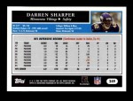 2005 Topps #249  Darren Sharper  Back Thumbnail