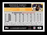 2005 Topps #221  Donovin Darius  Back Thumbnail