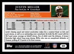 2005 Topps #384  Justin Miller  Back Thumbnail