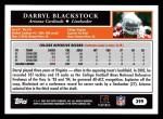 2005 Topps #399  Darryl Blackstock  Back Thumbnail
