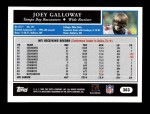 2005 Topps #303  Joey Galloway  Back Thumbnail
