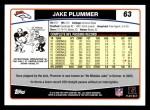2006 Topps #63  Jake Plummer  Back Thumbnail