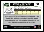2006 Topps #112  Jerricho Cotchery  Back Thumbnail
