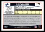 2006 Topps #177  Roy Williams  Back Thumbnail
