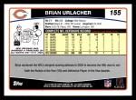 2006 Topps #155  Brian Urlacher  Back Thumbnail