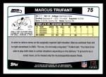 2006 Topps #75  Marcus Trufant  Back Thumbnail