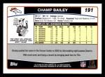 2006 Topps #191  Champ Bailey  Back Thumbnail