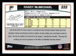 2006 Topps #222  Randy McMichael  Back Thumbnail