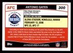 2006 Topps #300   -  Antonio Gates All-Pro Back Thumbnail
