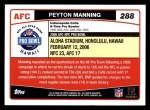 2006 Topps #288   -  Peyton Manning All-Pro Back Thumbnail