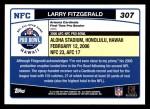 2006 Topps #307   -  Larry Fitzgerald All-Pro Back Thumbnail