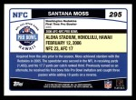 2006 Topps #295   -  Santana Moss All-Pro Back Thumbnail